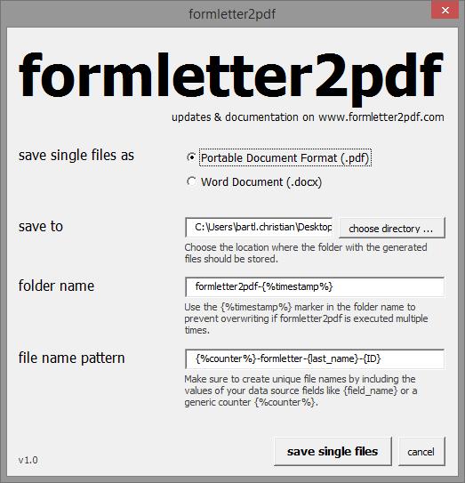 formletter2pdf